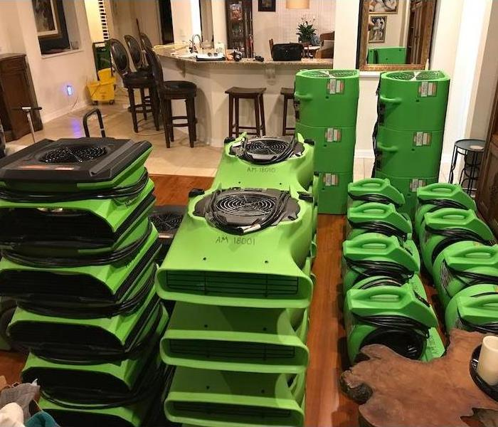 SERVPRO Equipment Inside a home